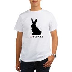 I Love Bunnies Organic Men's T-Shirt