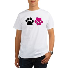 Heart Paw Organic Men's T-Shirt