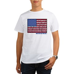 PLEDGE OF ALLEGIANCE FLAG Organic Men's T-Shirt