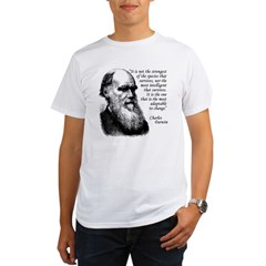 Darwin on Survival Organic Men's T-Shirt