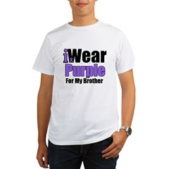 I Wear Purple For My Brother Organic Men's T-Shirt