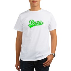 Retro Bree (Green) Organic Men's T-Shirt