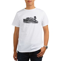 Locomotive (Black) Organic Men's T-Shirt