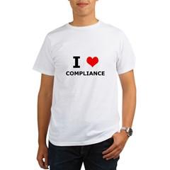 I (heart) Compliance Organic Men's T-Shirt