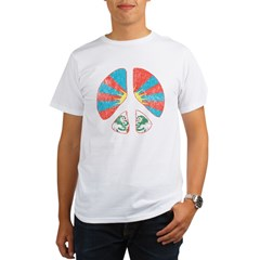 Free Tibet Peace Sign Organic Men's T-Shirt