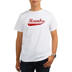Rambo (red vintage) Organic Men's T-Shirt