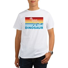 Colorful Dinosaur Organic Men's T-Shirt