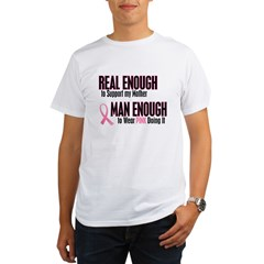 Real Enough Man Enough 1 (Mother) Organic Men's T-Shirt