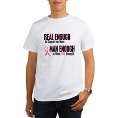 Real Enough Man Enough 1 (Mom) Organic Men's T-Shirt