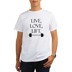Live, Love, Lif Organic Men's T-Shirt