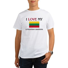 I Love My Lithuanian Grandma Organic Men's T-Shirt