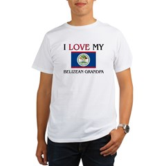 I Love My Belizean Grandpa Organic Men's T-Shirt