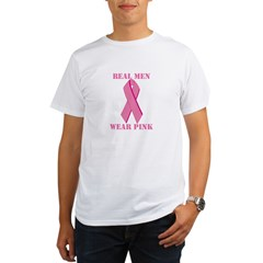 Real Men Wear Pink Organic Men's T-Shirt