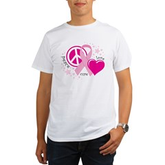 BC Peace Love Cure Organic Men's T-Shirt