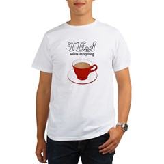 Tea Solves Everything Organic Men's T-Shirt