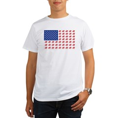 Original Patriotic Horse Flag Organic Men's T-Shirt
