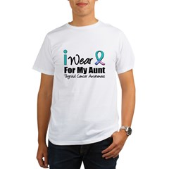 Thyroid Cancer (Aunt) Organic Men's T-Shirt