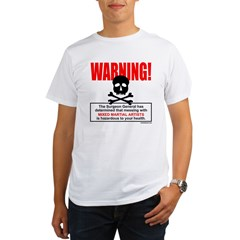 WARNING MMA Organic Men's T-Shirt