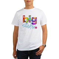big sister t-shirt flower Organic Men's T-Shirt