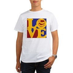 Library Work Love Organic Men's T-Shirt