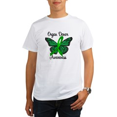 I Wear Green Gift of Life Organic Men's T-Shirt