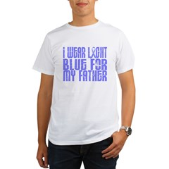 I Wear Light Blue 16 (Father) Organic Men's T-Shirt