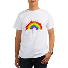 rainbow splatterD Organic Men's T-Shirt