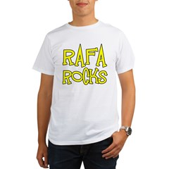 Rafa Rocks Tennis Design Organic Men's T-Shirt