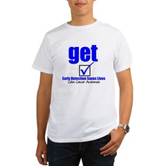 Colon Cancer Get Checked Organic Men's T-Shirt