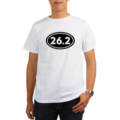 26.2 Marathon Oval Organic Men's T-Shirt