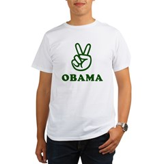 Obama for Peace Organic Men's T-Shirt