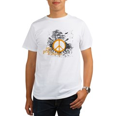 give_peace_scene_orange_dark Organic Men's T-Shirt