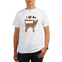 I Love My Chihuahua Organic Men's T-Shirt