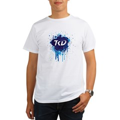TKD Splatter Blue Organic Men's T-Shirt