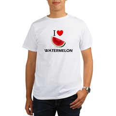 I Love Watermelon Organic Men's T-Shirt