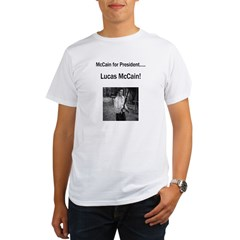 Lucas McCain for President.jpg Organic Men's T-Shirt