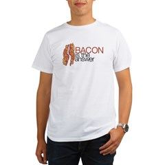 """Bacon is the Answer"" Organic Men's T-Shirt"