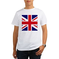 British Flag Union Jack Organic Men's T-Shirt
