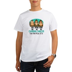 See Speak Hear No Ovarian Cancer 1 Organic Men's T-Shirt