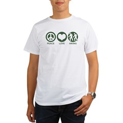 Peace Love Hiking Organic Men's T-Shirt