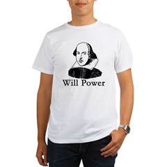 William Shakespeare WILL POWER Organic Men's T-Shirt