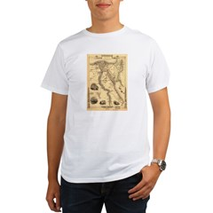 Ancient Egypt Map Organic Men's T-Shirt