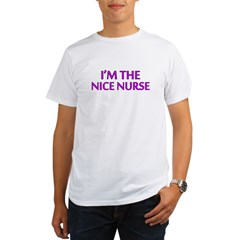 Pink Nice Nurse Organic Men's T-Shirt
