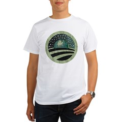 ObamaEarth-distressed on black Organic Men's T-Shirt
