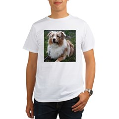 Red Merle Aussie Organic Men's T-Shirt