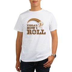 vizsla's how I roll Organic Men's T-Shirt