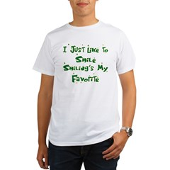 Smiling's My Favorite Organic Men's T-Shirt