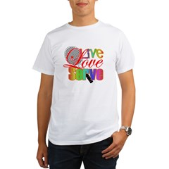 Live, Love, Serve Organic Men's T-Shirt