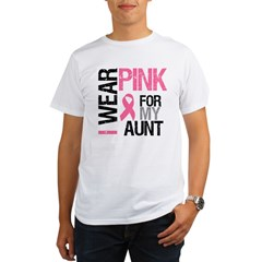 I Wear Pink (Aunt) Organic Men's T-Shirt
