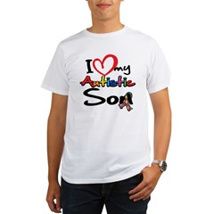 I Love My Autistic Son 2 Organic Men's T-Shirt